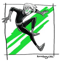 """I did a quick thing to establish my love for danny phantom."" By humbugwitch on Tumblr"