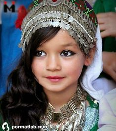 A little Hazara Girl (Afghanistan) in their traditional dress--Her jewelry. Kids Around The World, We Are The World, People Around The World, Precious Children, Beautiful Children, Beautiful World, Beautiful People, Folk Costume, Poses