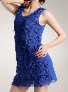 New Style Simple Lace Net Yard Splice Occasion Vest Dress--Click the picture can place an order, we support wholesale.