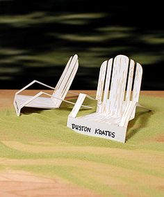 Laser Expressions Adirondack Deck Chairs
