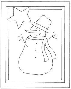 Snowman punch needle