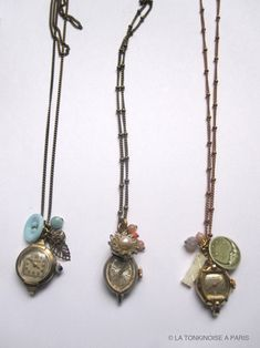 old watch faces used as pendants