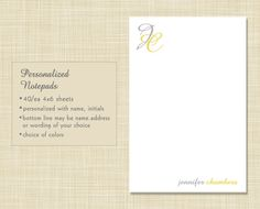 Personalized Notepad Teacher Gift Stationery  by EclecticNoteCards, $7.00
