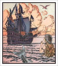 """ The Little Mermaid ""  …  Illustrator:  Ivan Bilibin [1937]"