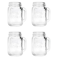Mason Jar Shot Glasses - 4 Count, Medium Clear