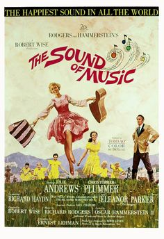 The Sound of Music 1965 U. One Sheet Poster Julie Andrews & Plummer in Rodgers & Hammerstein musical classic (Oscars). Film Movie, Film Musical, Julie Andrews Movies, Sound Of Music Movie, Music Sing, Robert Wise, Sir Anthony Hopkins, Richard Rodgers, Classic Movie Posters