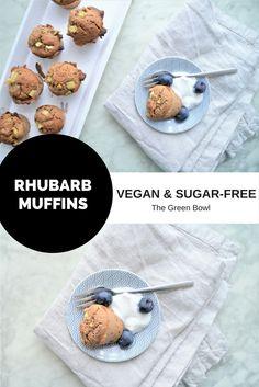 RHUBARB MUFFINS - vegan & sugar-free! The Green Bowl
