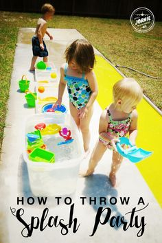 How to throw a SPLASH PARTY this summer that will keep the kids wanting more!