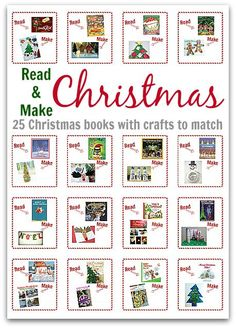 & Make Christmas - 25 Christmas Books With Crafts To Match LOVE read and make. There are 25 great books with Christmas themed crafts for each day.LOVE read and make. There are 25 great books with Christmas themed crafts for each day. Christmas Makes, Noel Christmas, Christmas Books, Christmas And New Year, Christmas Themes, All Things Christmas, Christmas Ornament, Preschool Christmas, Christmas Crafts For Kids