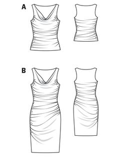 Cowl Tank 06/2013 #101A - BurdaStyle (sewing pattern for stretch knits, dress sizes 34-42)