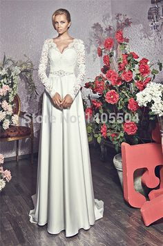 V Neck Sexy Cap Lace Vestidos Tulle crystals Beaded Hippie Bridal Gowns Wedding Dresses 2015 New Arrival Long sheer Applique
