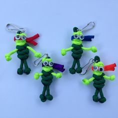 Paracord Ninja Turtles - Geocaching Swag by CoolGeocachingSwag on Etsy