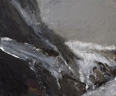 Ørnulf Opdahl (Norwegian): Bre, 50 x 60 cm Nature Paintings, Landscape Paintings, Landscapes, Art Tutor, Shades Of Grey, Abstract Landscape, Scandinavian, Oslo, Illustration Art