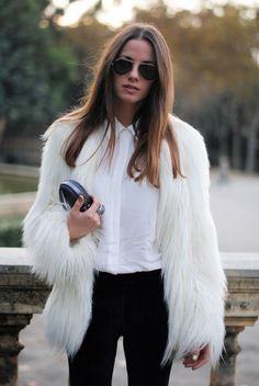 Fur Fashion, Look Fashion, Womens Fashion, Cheap Fashion, White Fashion, Affordable Fashion, Daily Fashion, Street Fashion, Fashion Dresses