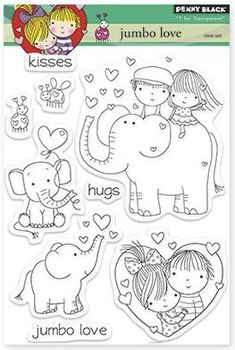 Penny Black - Clear Stamp - Jumbo Love,$15.49