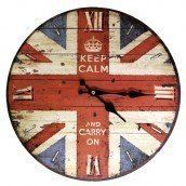 British Keep Calm and Carry On Vintage Style Clock. Oriental Gifts Diameter 30cm by Newquay-Bonsai, http://www.amazon.co.uk/dp/B00ECCE6ZM/ref=cm_sw_r_pi_dp_x_Z0EqzbQ3N9V0B