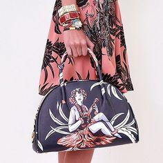 Prada beautiful Polynesia printed bag