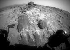 "Blocky Rock is Exam Target for Mars Rover Opportunity The flat-faced rock near the center of this image is a target for contact investigation by NASA's Mars Exploration Rover Opportunity in early March 2015. The rock includes a target called ""Sergeant Charles Floyd,"" for the quartermaster of the Lewis and Clark Expedition."