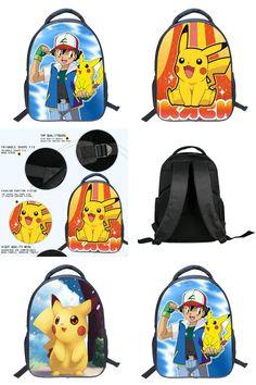 [Visit to Buy] Fashion Game Pocket Monster Pokemon Backpack For Teenager Boy Girls Kawaii Pikachu Poke Ball School Bag Student Cartoon Backpack #Advertisement