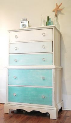 This looks great... I am going to use CeCe Caldwell's Chalk and Clay paint on my next dresser and paint it like this one!