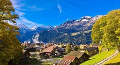 Alpine views, traditional timber chalets, and the fact that cars have been banned for more than 100 years add up to make Wengen, Switzerland one of the most beautiful towns in the world. (From: World's 16 Most Picturesque Villages)