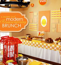 A Happy & Modern Housewarming Brunch: I love the way this looks and this idea in general!