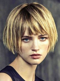 66 Chic Short Bob Hairstyles & Haircuts for Women in 2019 - Hairstyles Trends Bob Haircut With Bangs, Short Hair With Bangs, Short Hair Cuts, Short Hair Styles, Short Bob Bangs, Layered Bob With Bangs, Layered Bob Short, Short Bob With Fringe, Layered Bobs