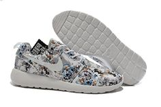 outlet store b4765 1c99a 2015 Nike Roshe Run Shoes Print Floral Collection Grayish White Mens  Sneakers Online Sales