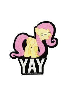 My Little Pony Fluttershy Yay Sticker | Hot Topic