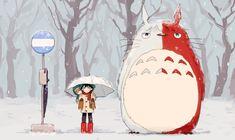 Boku no Hero Academia | Miroriya Izuku, Katsuki Bakugou, Todoroki Shouto|  Todoroki como Totoro mata jdsjds