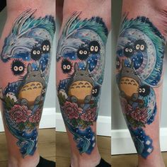 Totoro, Haku, Ghibli Tattoo. Is it wrong to be in love with my own leg.