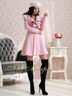 Love this pink overcoat!