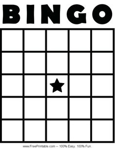 Customize Your Free Printable Blank Bingo Card Custom Bingo Cards, Free Printable Bingo Cards, Bingo Card Template, Printable Board Games, Alphabet Bingo, Word Bingo, Blank Bingo Board, Bingo Patterns, Music Bingo