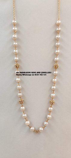 Pearl Necklace Designs, Jewelry Design Earrings, Jewellery Designs, Pearl Jewelry, Gold Earrings, Jewelery, Gold Chain Design, Gold Bangles Design, Beaded Wedding Jewelry