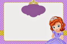 Princesa Sofía: Imprimibles y Tarjetas o Invitaciones Gratis.