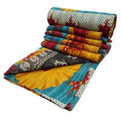 Handmade Ethnic Quilt Kantha Stitch Style by RajasthanRoyals