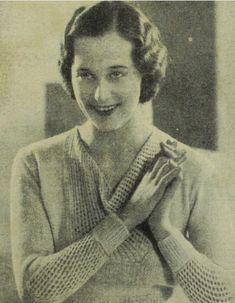f346296f0bd95 1933 free vintage knitting pattern for woman s jumper with lace cowl neck  and sleeves
