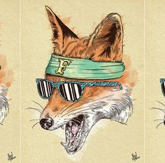 Illustration - illustration - Animal Gangs by Alejandro Giraldo www. illustration : – Picture : – Description Animal Gangs by Alejandro Giraldo www.creativeboysc… -Read More – Arte Hip Hop, Hip Hop Art, Fuchs Illustration, Creative Illustration, Fantastic Fox, Les Fables, Urban Art, Animal Drawings, Hiphop