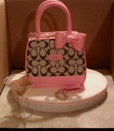 Sculpted Cake - Coach Purse Cake