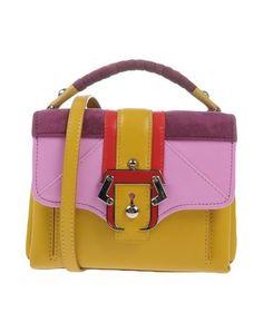 PAULA CADEMARTORI Handbag. #paulacademartori #bags #shoulder bags #hand bags #satchel #suede #