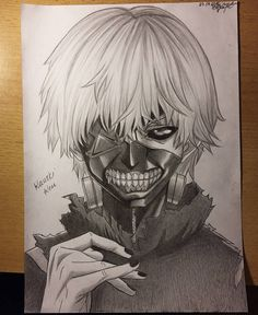 """@arteyata on Instagram: """"Done! My drawing of Kaneki Ken, Tokyo Ghoul I just want to tell you that you're awesome✌…"""""""