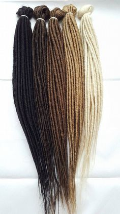DreadLab - Double Ended Synthetic Dreadlocks (Pack of 10) Backcombed Extensions. #Dreadlab #Dreadlock #Extensions #Syntheticdreadlocks