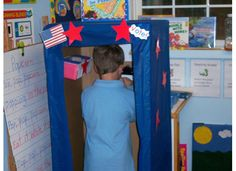 Create a polling booth for students to vote.