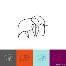 Image result for one line elephant