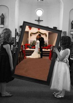 I LOVE THIS SHOT! probably the coolest wedding shot I have ever seen.