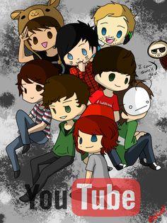 Youtubers by NotsoCuteandFluffly.deviantart.com on @deviantART