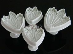 Set of 4pcs Tulip plunger Cutter cake decorating fondant embossing tool * Wow! I love this. Check it out now! : Baking Accessories