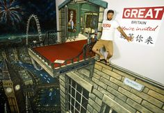 Illusion: If you have enjoy our past posts of anamorphic street art, you will also like the paintings of 3D Joe and Max. Below: (November 17th, 2011). Reebok CrossFit has teamed up with 3D Joe and Max to break two Guinness World Records for the longest and largest 3D painting. Photos © Joe 3D and Max [...]. http://illusion.scene360.com/art/23846/are-you-scared-of-heights/