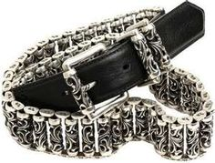 chrome hearts Football Jewelry, Biker Accessories, Biker Gear, Chrome Hearts, Biker Leather, Old Women, Bracelets For Men, Belt Buckles, Me Too Shoes