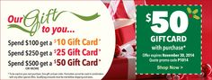 Our Gift to You - $50 Gift Card on your next purchase. Visit sharpercards.com for more information.